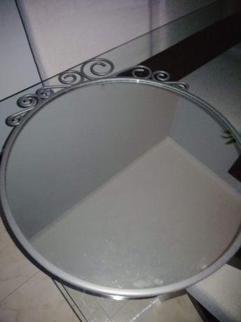 Espelho metal redondo