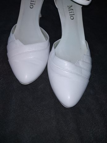 Buty ślubne białe r. 40
