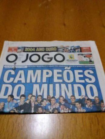 Jornal O Jogo,13/12/2004 - Porto Campeão do Mundo