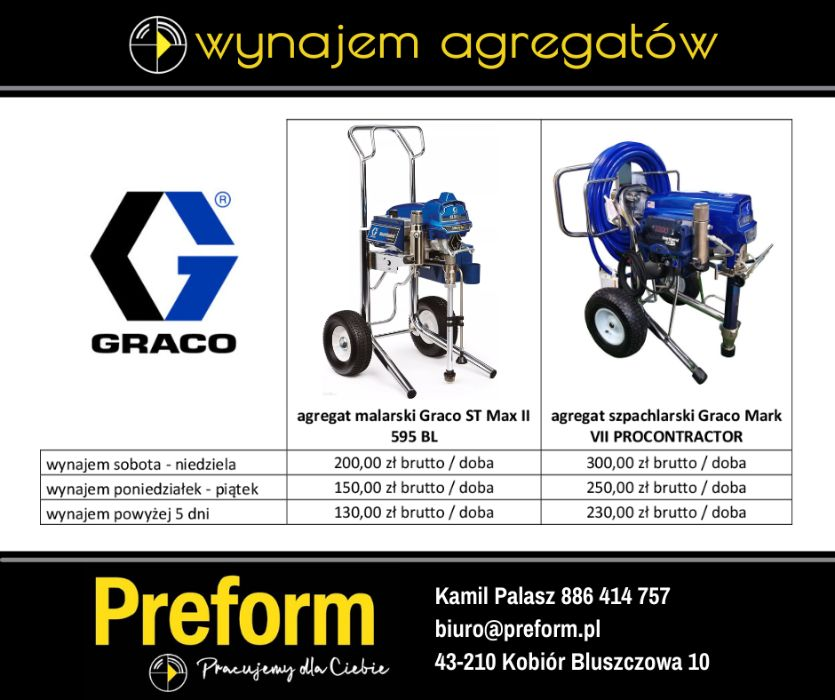 WYNAJEM Agregat malarski Graco ST-Max 595 Kobiór - image 1