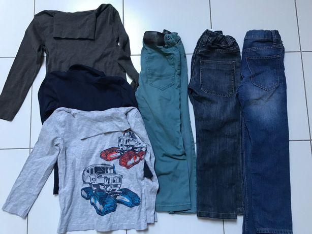 Paka ubrań dla chłopca H&M i C&A, r. 110, 4-5 lat, zima/wiosna