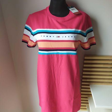 Nowa sukienka damska Tommy Hilfiger sportowa bawełna na co dzień S M