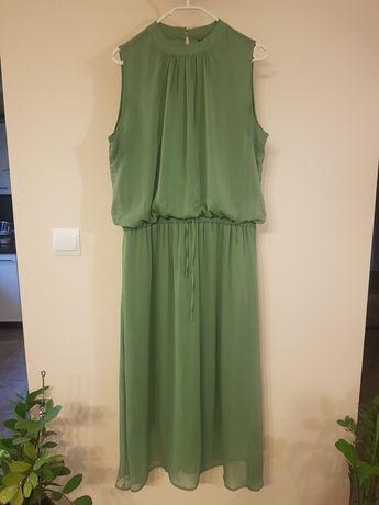 Zielona sukienka zwiewna Modoo XL 42