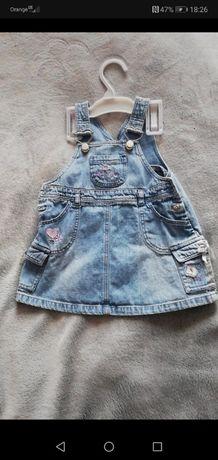 Śliczna jeansowa sukienka rozmiar 62-68