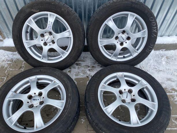Диски Rial 4/100R16 6.5J ET42+літо 205/60R16 Continental