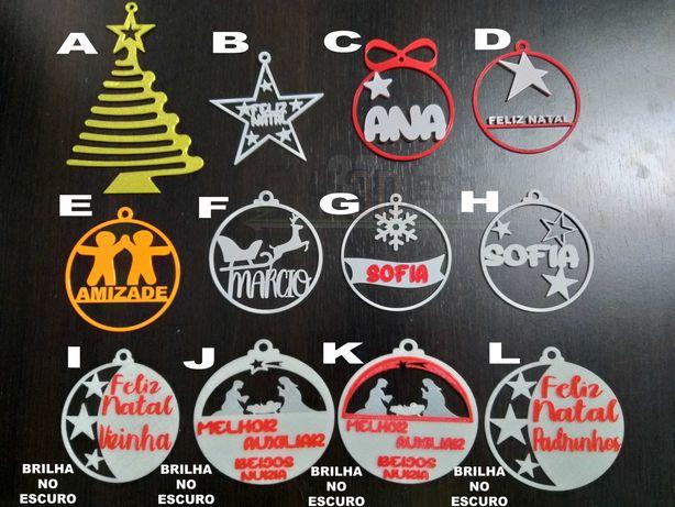 Bolas de Natal com Nome Personalizado
