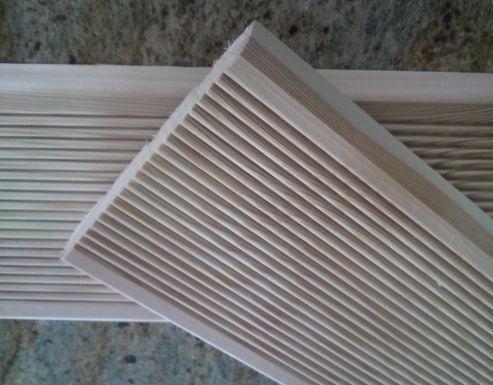 Deska tarasowa ryflowana/gładka 28x150 modrzew