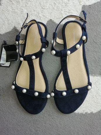 Nowe sandałki z perełkami diverse 41