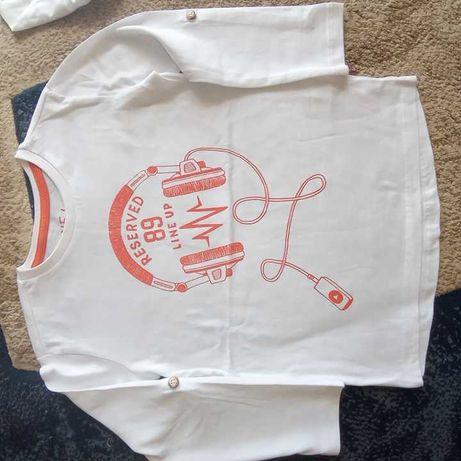 5 bluzki,bluzka bluzeczki NOWA RESERVED r104,110 długi rękaw,5.10.15