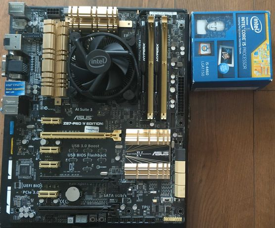 Комплект процессор/материнская плата/память, i5-4460/16gb DDR3/Z-87PRO