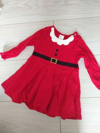 Świąteczna sukienka r.74