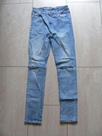 Jeansowe spodnie rurki Cubus 36,S z wysokim stanem skinny