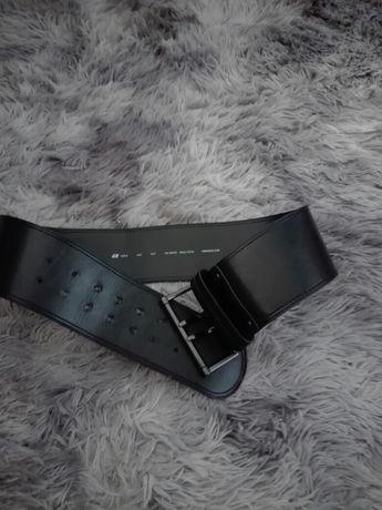 Pas czarny H&M - szer. 8 cm