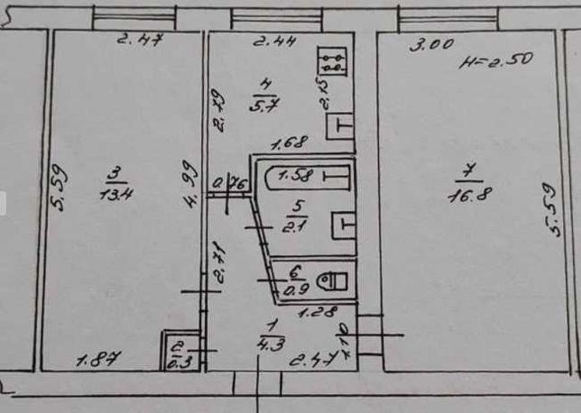 Л-6 Срочная продажа 2 х комнатной квартиры на Черёмушках.