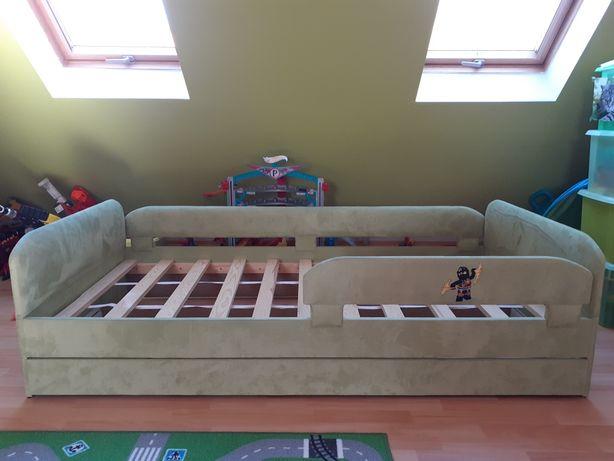 Łóżko dziecięce sosnowe tapicerowane 180x90