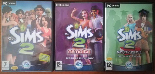 """The Sims 2 + Expansões """"Na noite"""" e """"Na universidade"""""""