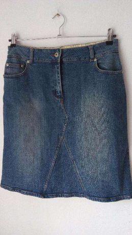 Spódnica jeansowa George 40/42 haft