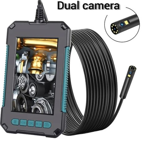 Dual Эндоскоп Бороскоп с экраном Двойная Камера Хорошее Качество P40 D