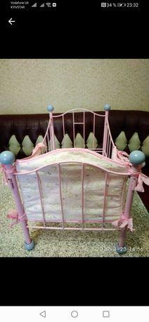 Кроватка для куклы беби анабель запф