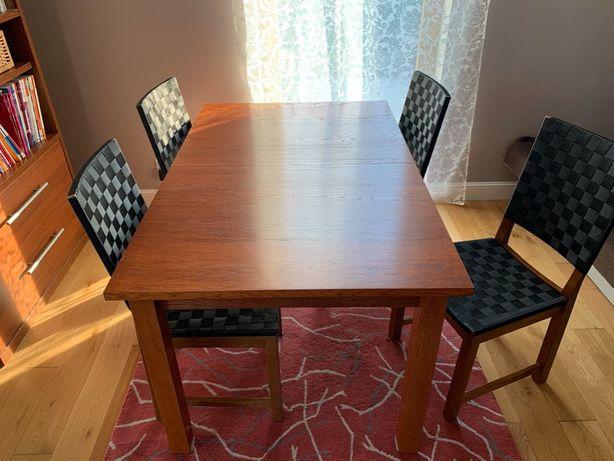 Stół + 4xkrzesła - lite drewno IKEA
