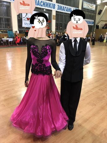 Танцы платье бальное
