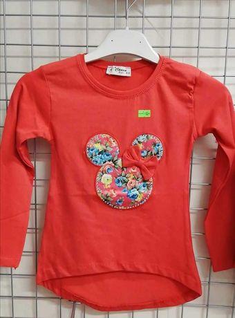 Jesienne bluzki dziewczęce z motywem Myszki Minnie z kokardką - HIT!#