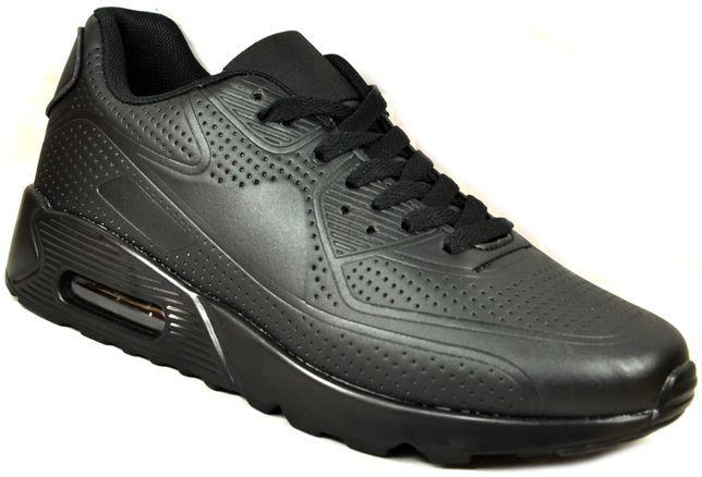 M1043 czarne TRWAŁE Sportowe buty ADIDASY JOGGING AIRMAX r.41-46