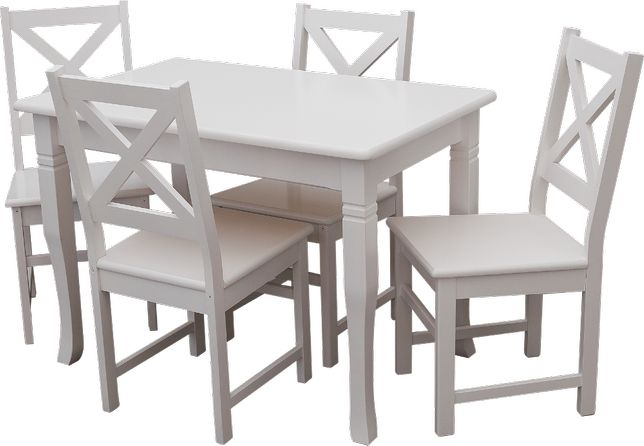 "stół i krzesła kuchenne sosnowe komplet sosnowy kuchenny""Mars"" PROMOCJ"