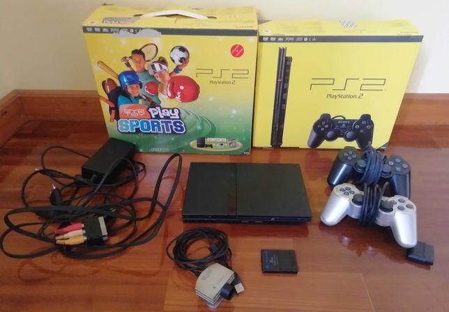 Playstation 2  como nova com tudo + 16 Jogos