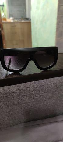 Женские солнцезащитные очки- маска Celine черные