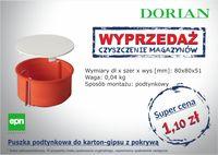 Puszka podtynkowa do karton-gipsu z pokrywą - Dorian Sp.j.