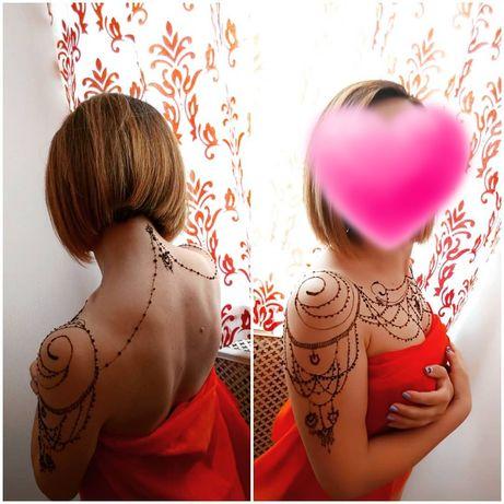 Мехенди, рисунок хной/джагуа, эротическая роспись, временная тату.