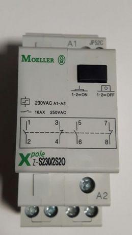 Przekaźnik, stycznik bistabilny. Sterowanie 230V. Obciążenie 16A.