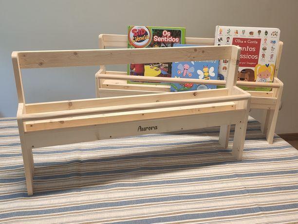 Estante biblioteca Montessori para crianças