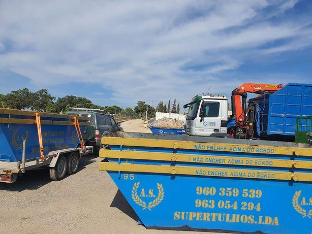 Vendo e alugo contentores de 6m³ para entulho e resíduos de obras