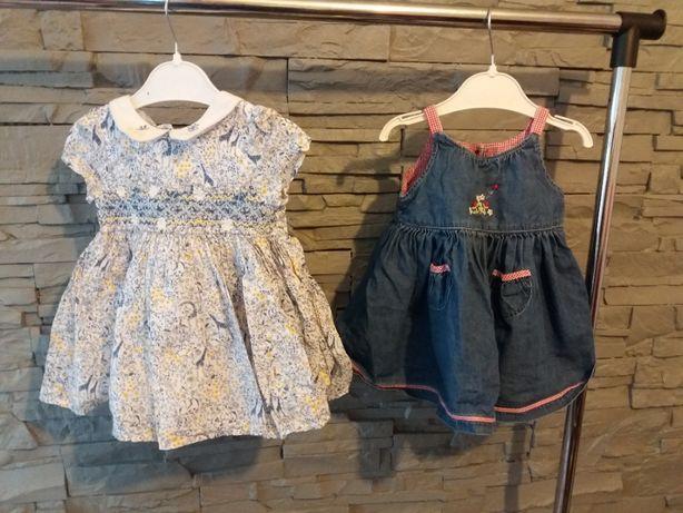 sukienka 2szt 3-6 miesięcy Next i Marks & Spencer