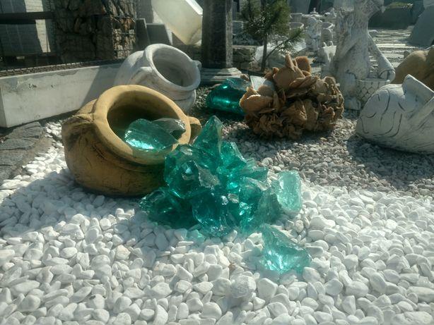 Otoczak Thassos Premium śnieżno biały żwir kora kamienna grys kamień
