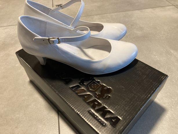 Buty białe taneczne / do ślubu LA MARKA