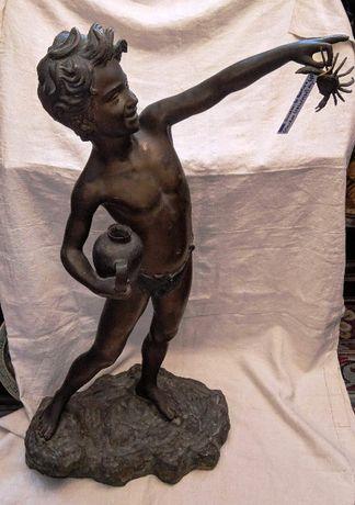Estátua Bronze Geovanni De Martino Séc XIX