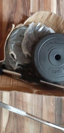 Gryf łamany 120cm 55 kg sztanga obciążenie HANTLE