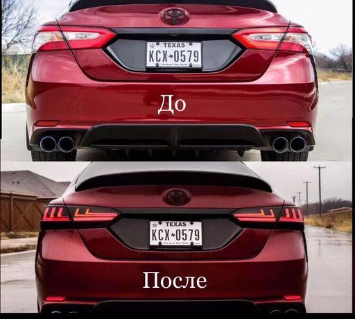 Уникальные задние LED фонари на Toyota Camry v70 в стиле Lexus
