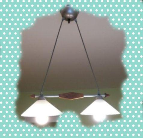 OKAZJA żyrandol lampa sufitowa wisząca drewniana