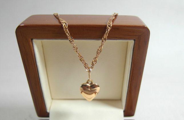 Lombard Działdowo Loombard zjawiskowy złoty łańcuszek 14k 55cm