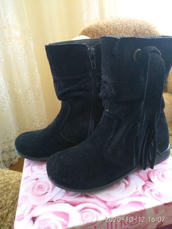 Осінньо- весняні чобітки для дівчинки.