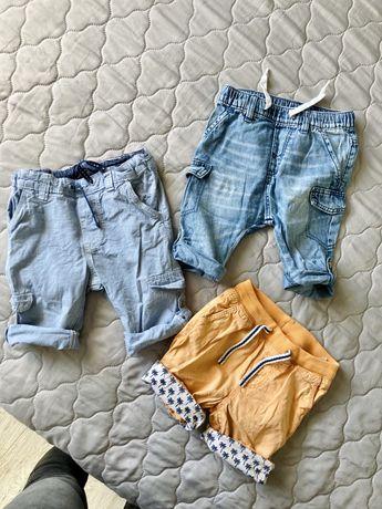 Spodneki szorty H&M rozmiar 74 chłopiec