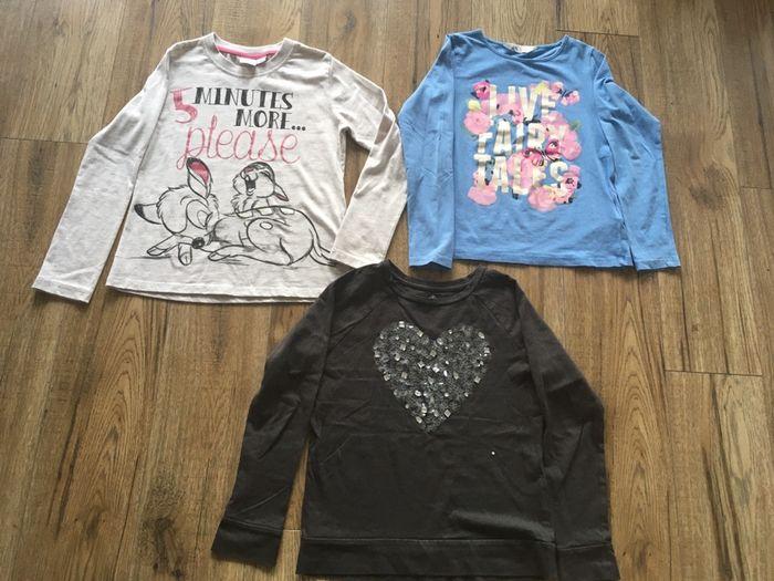 Bluzeczki 3 szt. H&M, YD, 7-8 lat Kikół - image 1