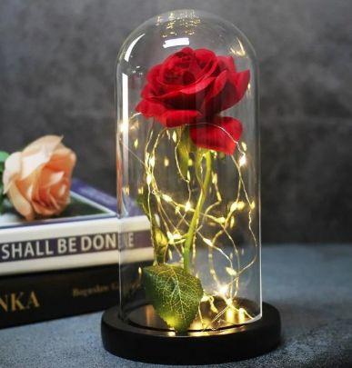 АКЦИЯ!! Роза в колбе с LED подсветкой