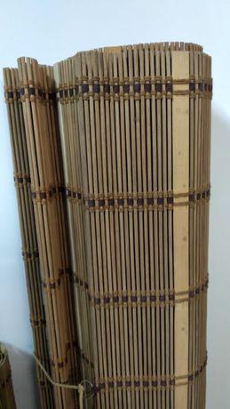 2 Estores de bambu