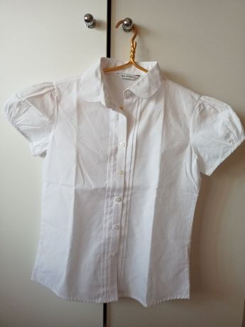 Блузка белая М&S для девочки рост 152 см (11-12 лет)