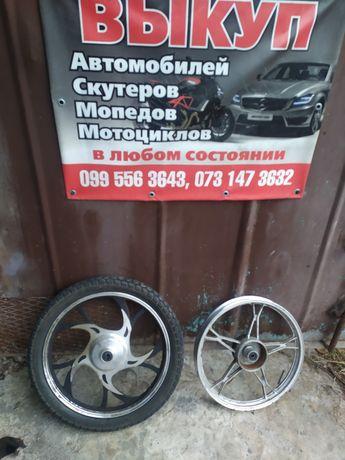 Диски титановые колёса колеса Альфа дельта alfa Delta 17 бу